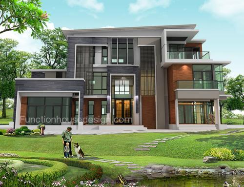 ผลงานสร้างบ้านสามชั้น (บ้านคุณศิริชัย) สามพราน UPDATE