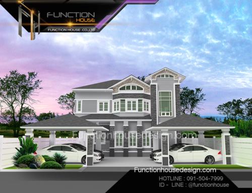 รับสร้างบ้าน คอนเทมโพรารี่ ( บ้านคุณชนก )